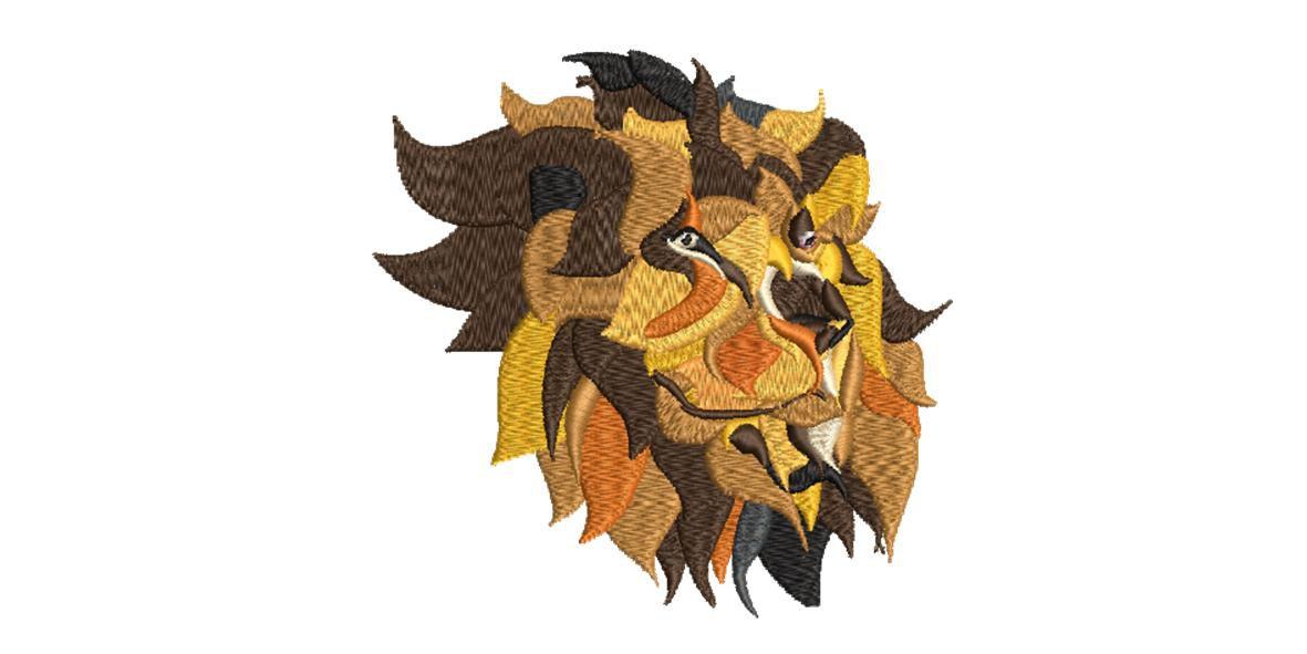 BRODERIE TETE DE LION