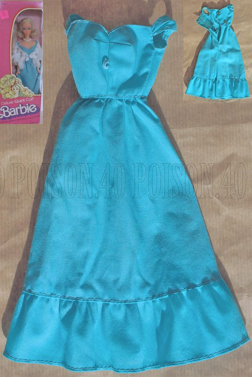 """DELUXE QUICK CURL"" BARBIE DOLL CLOTHES 1975 MATTEL #9217"