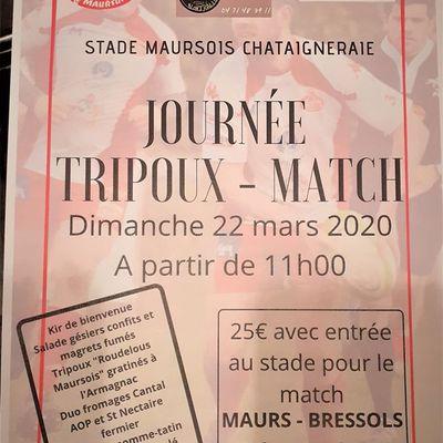 Journée tripoux-match à Maurs