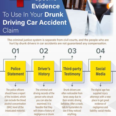 4 Specific Evidence To Use In Your Drunk Driving Car Accident Claim