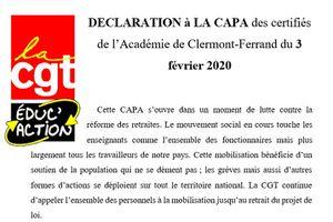 CAPA Certifiés recours appréciations PPCR : déclaration de nos élu.e.s et compte-rendu