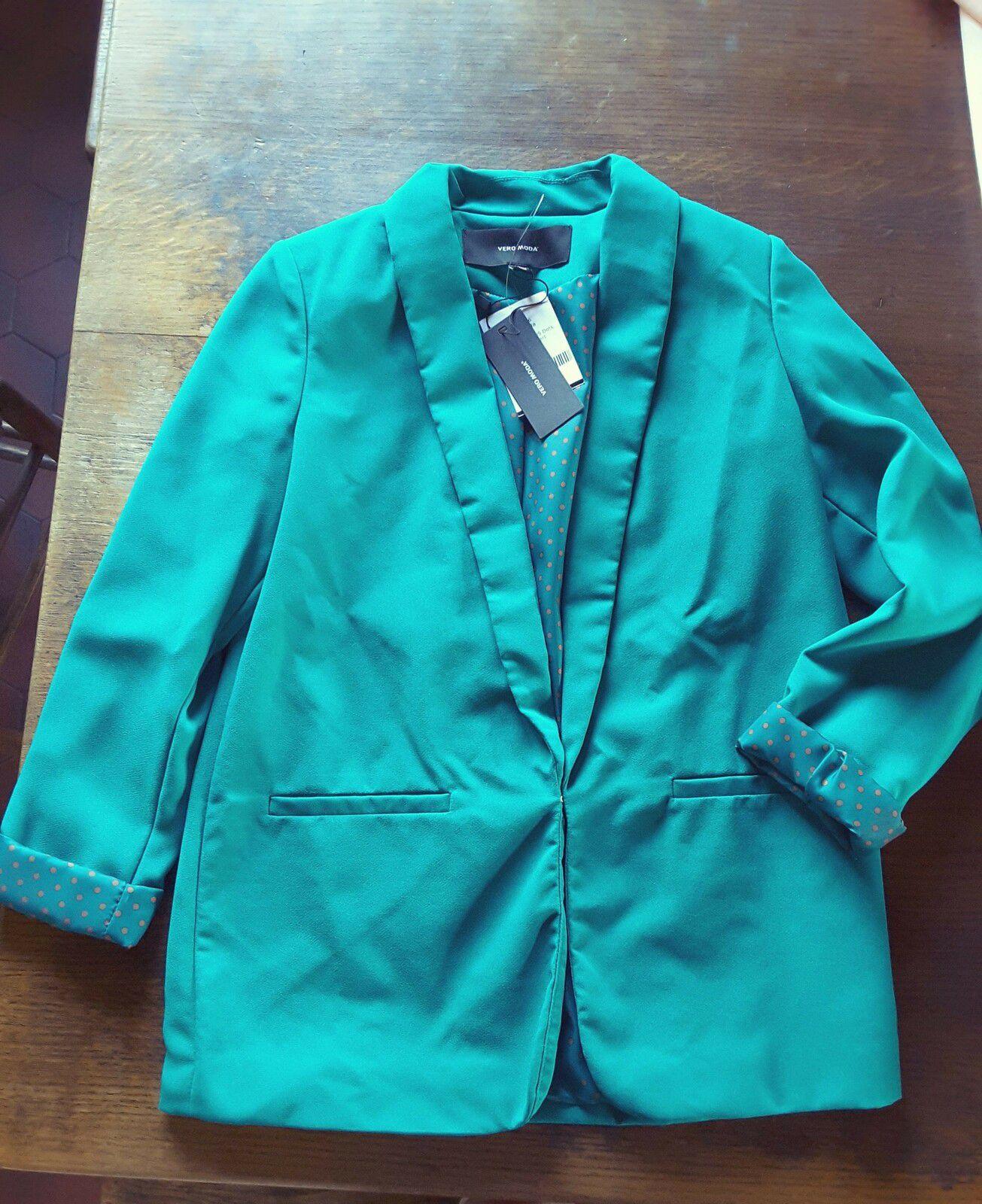blazer Frances L/S Dots, parasailling vert - Vero Moda  clic and fit missbonsplansdunet personal shopper styliste box vêtements