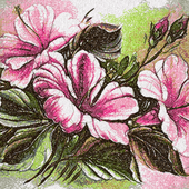 Flowers photo stitch free embroidery design 24