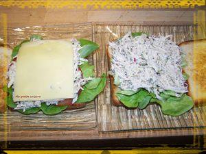 Sandwich (pain de mie) au poulet - recette espagnole