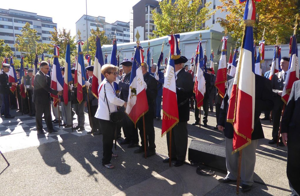Rencontre des porte drapeaux à Seynod, 13 octobre 2018