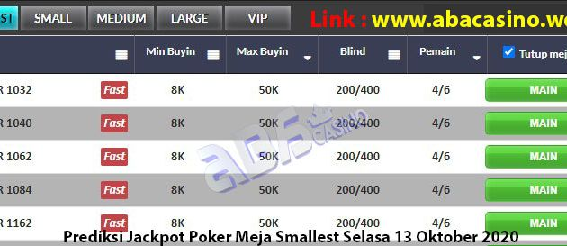 Bocoran Jackpot Poker Selasa 13 Oktober 2020