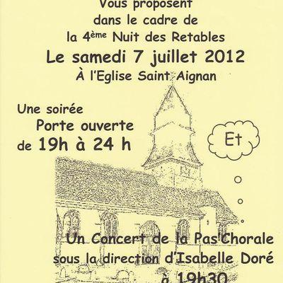 samedi 7 juillet 2012 : Nuit des Retables à partir de 19h