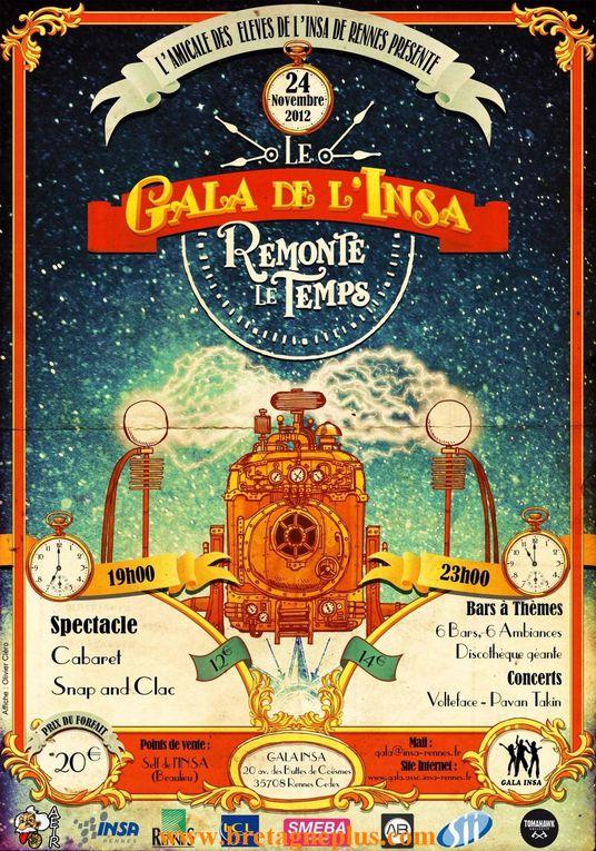 Ce samedi 24 novembre, les étudiants de l 'association AEIR Insa Rennes,  organisaient, le GALA INSA 2012
