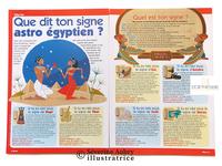Illustrations pour : un article presse sur l'astrologie égyptienne - Miss mag - 2005  /  un article presse sur les cauris divinatoires  - Miss mag - 2005  /  un article presse sur un oracle japonais - Miss mag - 2005