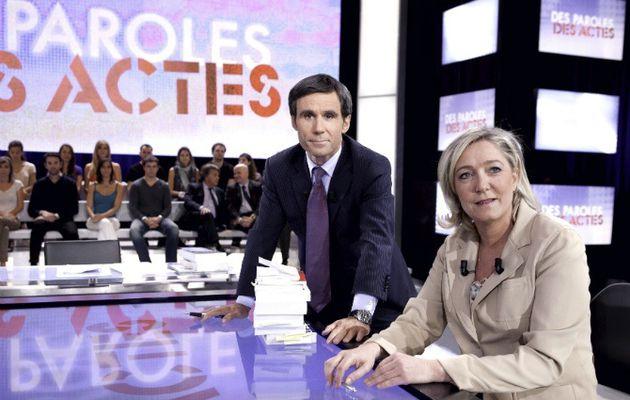Des Paroles et des Actes : France 2 annule l'émission suite au désistement de Marine Le Pen