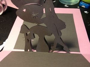 Carte kirigami fée