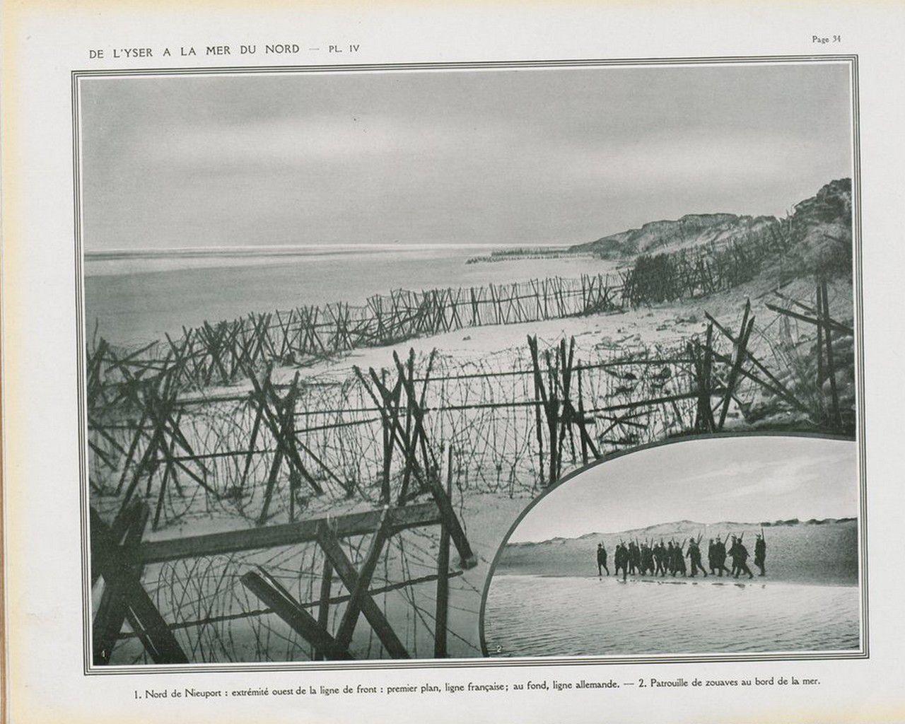 De l'Yser à la Mer du Nord Octobre 1914