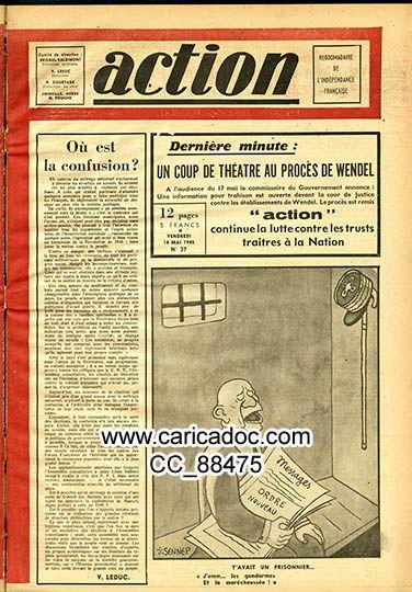 Action, hebdomadaire de l'indépendance française