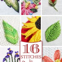 Broderie main: 16 points de broderies expliqués
