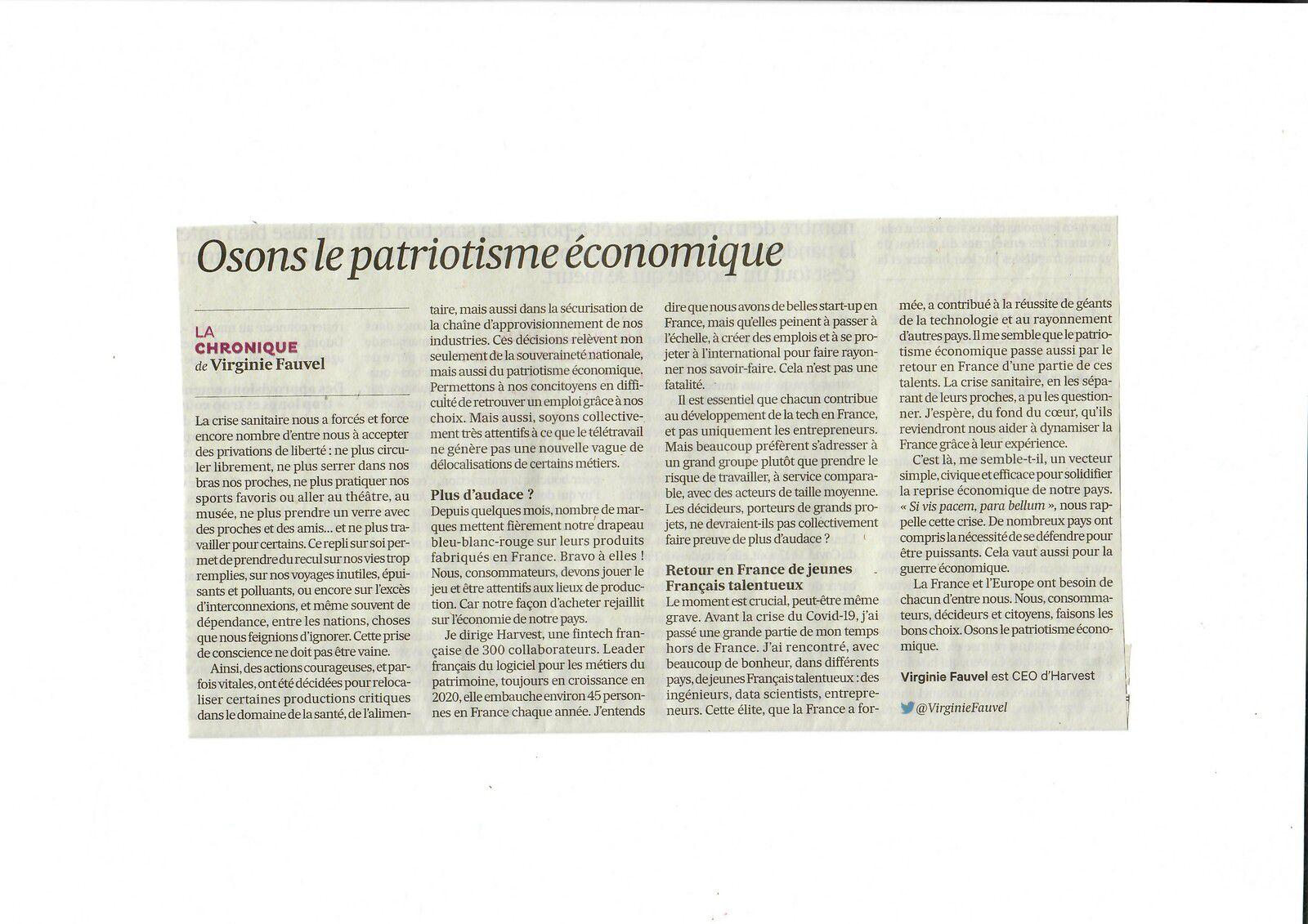 Vus et lus dans Challenges n° 685 du 11/02/21, et Les Echos du 22/10/20