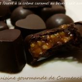 Chocolat fourré à la crème caramel au beurre salé aux noix - Cuisine gourmande de Carmencita