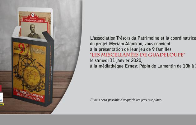 Voeux  et invitation médiathèque Lamentin le 11 janvier 2020 (Guadeloupe)