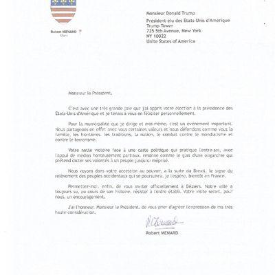 La lettre de Bob à Donald