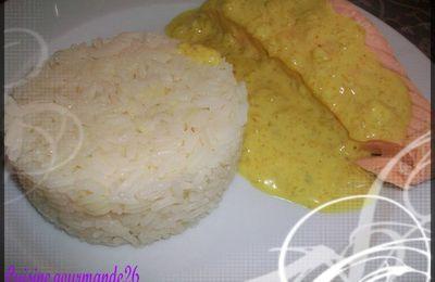 Saumon sauce au curry