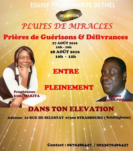 INVITATION : SÉMINAIRE DE MIRACLES & GUERISONS