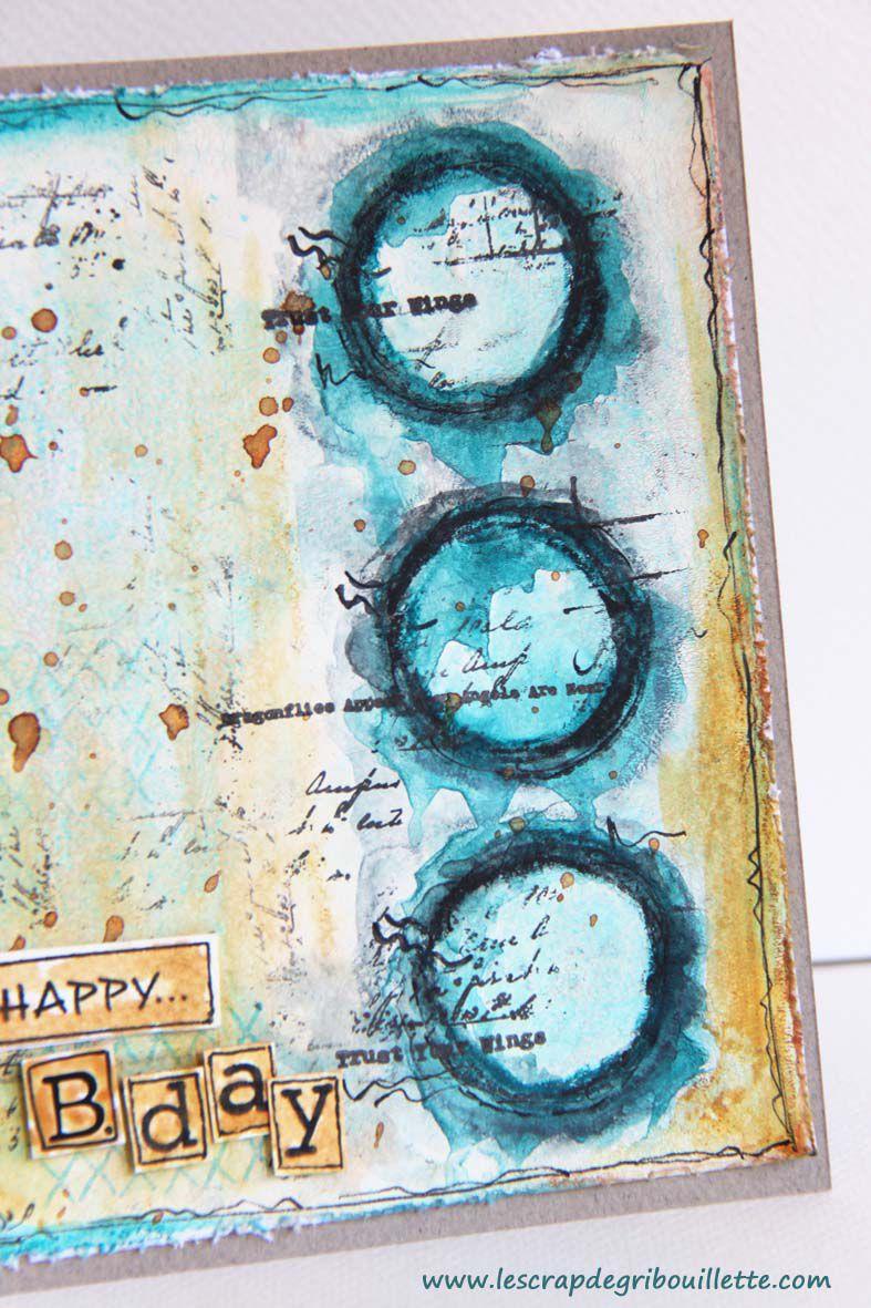 #Carte#Défi#688#Passion Cartes Créatives#Ronds#MixedMedia#Neocolorll#GelPress