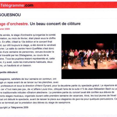 Le Télégramme Stage 2009