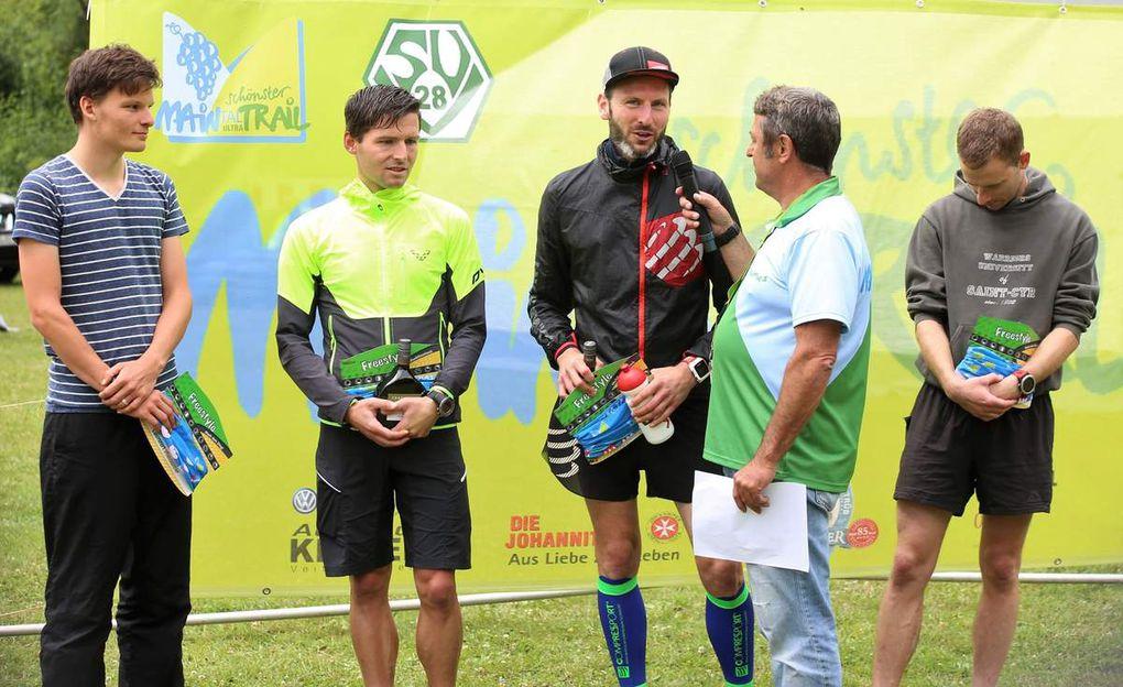 Siegerfotos 30 Kilometer Männer: Hier hatte Matthias Krah vom Main Ausdauershop Niedernberg in 2:11:58 die Nase vorn.