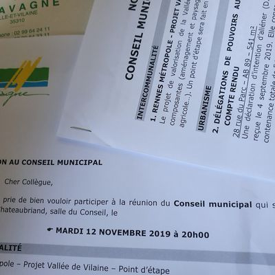 Conseil municipal du 12 novembre 2019