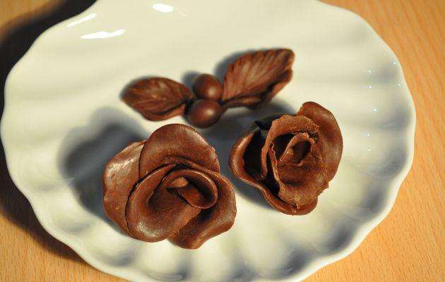 """""""Chocolat plastique"""" ou pâte à modeler en chocolat"""