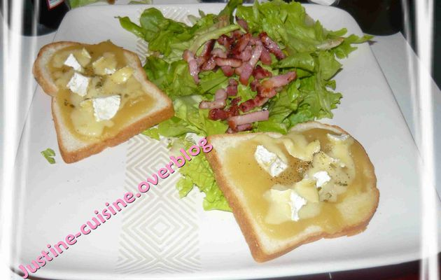 Toasts compote / camembert