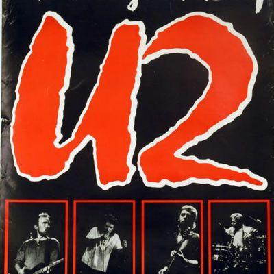 U2 -Affiche concert -22/06/1985-Milton Keynes Bowl -Angleterre