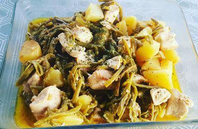 Haricots verts, pommes de terre au poulet au Cookéo