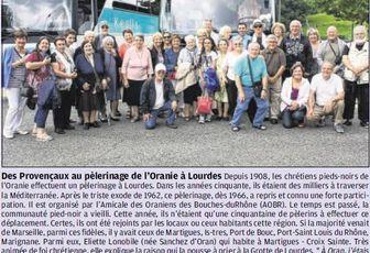 DES MARTEGAUX AU PELERINAGE DE L'ORANIE A LOURDES