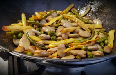 Wok de légumes verts au soja