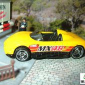 MAZDA MX 48 TURBO CABRIOLET HOT WHEELS 1/64 - MX48 - car-collector.net