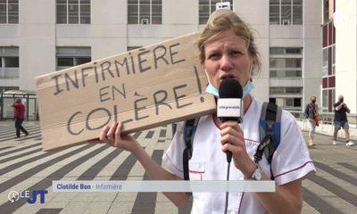 700 soignants du CHU Alpes protestent contre le passe sanitaire...