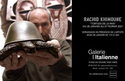 Exposition Sculpture Contemporaine: Rachid KHIMOUNE «TORTUES DE LA PAIX»