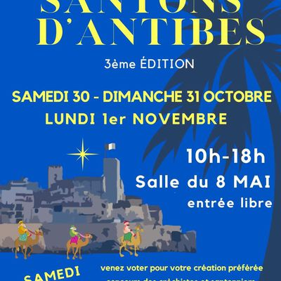 Salons santonniers 2021 à venir Antibes, Aubignan, Lauris, Grimaud et Cagnes-sur-Mer