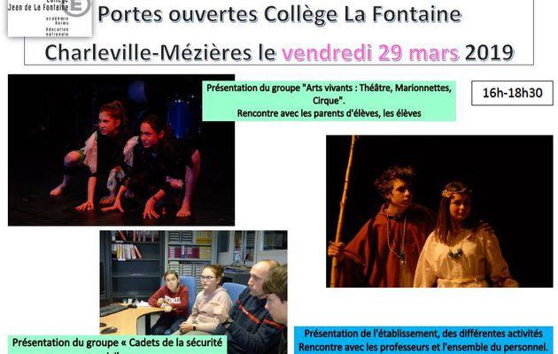 Portes Ouvertes Collège La Fontaine Vendredi 29 Mars 2019