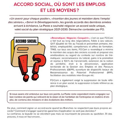 Accord social, où sont les emplois et les moyens?