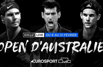L'Open d'Australie 2021 à suivre du 8 au 21 février sur Eurosport !