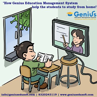 How Education Management System help the students to study from home!