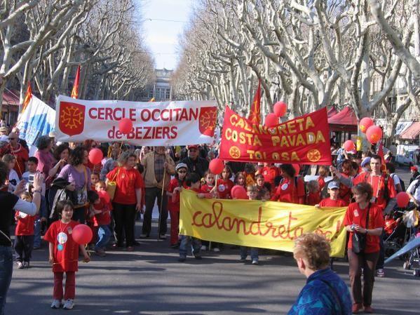 Manif pour l'occitan à Béziers 2007. Photos Pellet Jean-Marc