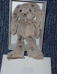 Doudou lapin Histoire d'ours copains calins, beige, 25 cm, fausse fourrure, doudoupeluche.fr