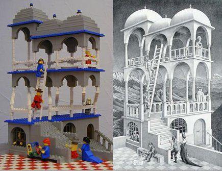 publicité Lego (belvedere de Escher)