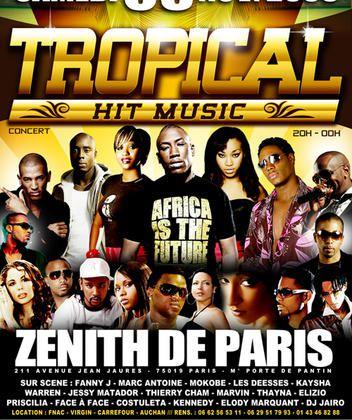TROPICAL HIT MUSIC le 08 Novembre 208: Fanny, Mokobe, Kaysha