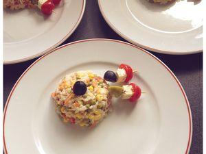 Salade de riz gastronomique