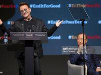 Bono et Justin Trudeau à Montreal. (Cliquez sur les photos pour agrandir ).