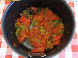 Oeufs brouillés aux poivrons et tomates (Mich Mach-Bulgarie) -light-