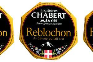 Rappel produit : Reblochon de Savoie 450g LS de marque Fruitières Chabert
